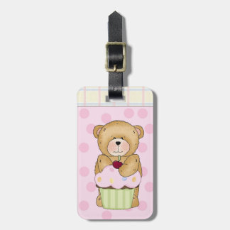 Teddy Bear Cupcake Party Tag For Luggage