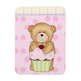 Teddy Bear Cupcake Party Vinyl Magnet