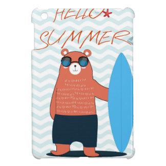 Teddy bear cute adorable beach funny theme iPad mini covers