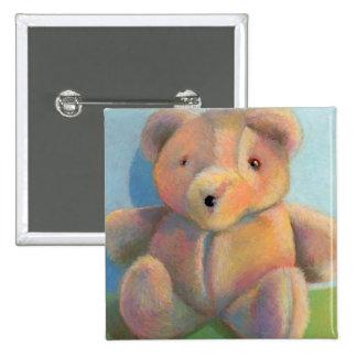 Teddy bear cute plush toy original art drawing pinback buttons