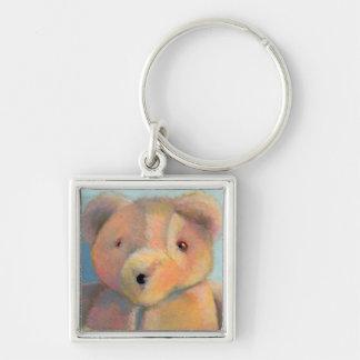 Teddy bear cute plush toy original art drawing key chains