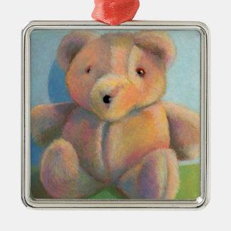 Teddy bear cute plush toy original art drawing christmas ornaments