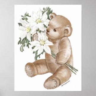 Teddy Bear Daisy Bouquet Posters