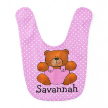 Teddy Bear Design Baby Bib