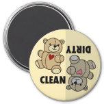 Teddy Bear Dishwasher Clean Dirty Magnet