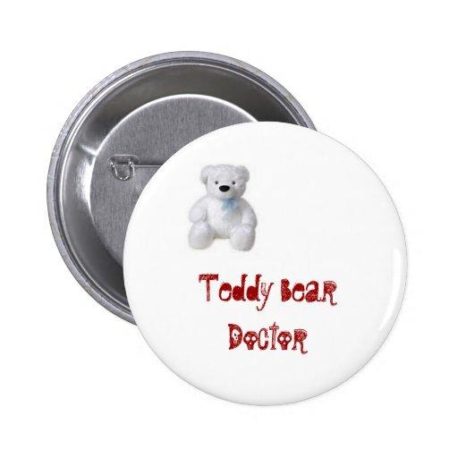 Teddy Bear Doctor Pinback Button