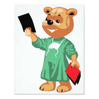 Teddy Bear Doctor Invitations