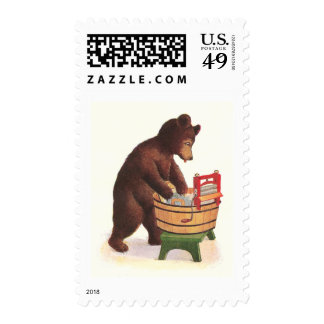 Teddy Bear Does the Laundry Stamps