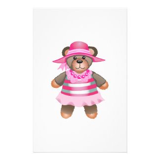 TEDDY BEAR DRESSED UP STATIONERY