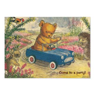Teddy Bear Drive Birthday Party Invitation