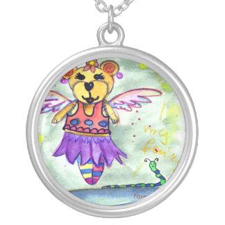 teddy bear elf pendants