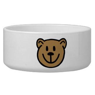 Teddy bear face bowl