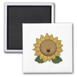 Teddy Bear Face Sunflower Magnet