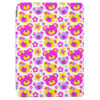 Teddy bear faces and flowers iPad Air cover