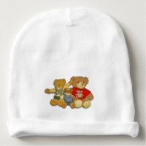 Teddy Bear Family Baby Beanie