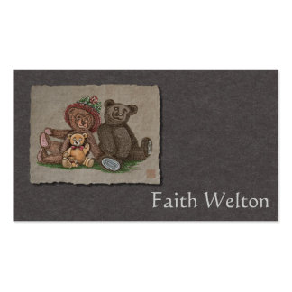 Teddy Bear Family Double-Sided Standard Business Cards (Pack Of 100)