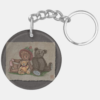 Teddy Bear Family Keychain