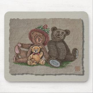 Teddy Bear Family Mouse Pad