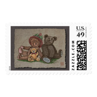 Teddy Bear Family Postage Stamps
