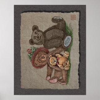 Teddy Bear Family Print