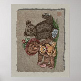 Teddy Bear Family Posters