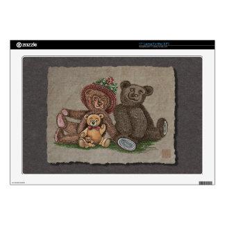 """Teddy Bear Family 17"""" Laptop Skins"""