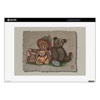 """Teddy Bear Family Skins For 15"""" Laptops"""