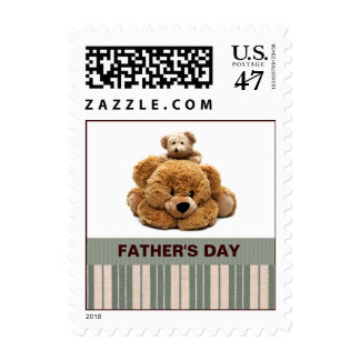 Teddy Bear Father's Day Postage Stamps