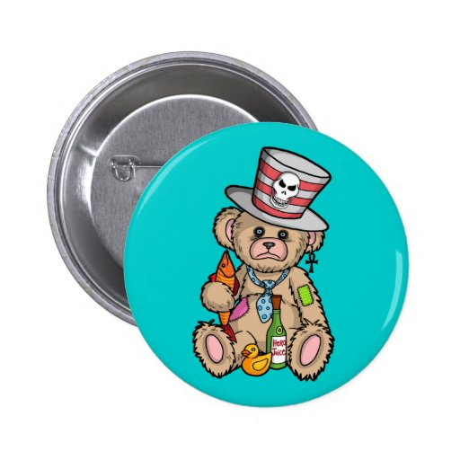 Teddy Bear Filled with Hero Juice 2 Inch Round Button