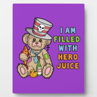 Teddy Bear Filled with Hero Juice Plaques