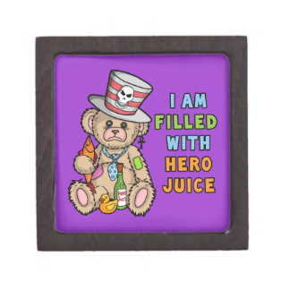 Teddy Bear Filled with Hero Juice Premium Gift Boxes