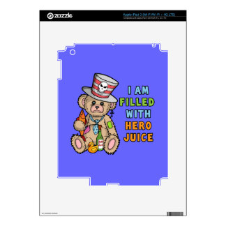 Teddy Bear Filled with Hero Juice Decal For iPad 3