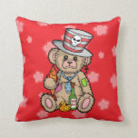 Teddy Bear Filled with Hero Juice Throw Pillows