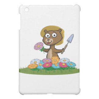 Teddy Bear Flower Gardener Case For The iPad Mini