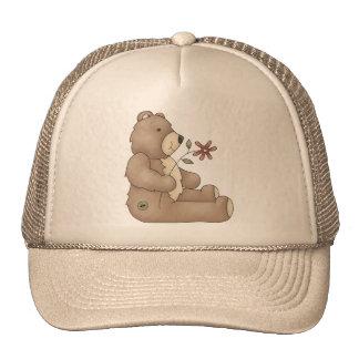 Teddy Bear Flower Trucker Hat