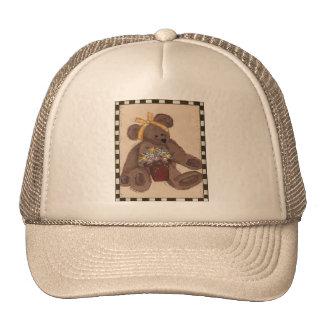 Teddy Bear Flowers Trucker Hat