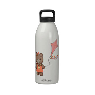 Teddy Bear Flying a Kite Drinking Bottles