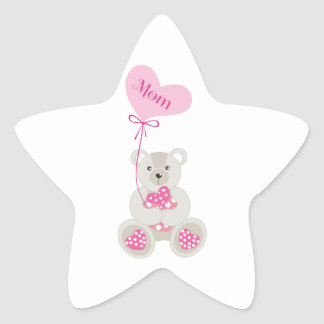 Teddy Bear for Mom Star Sticker