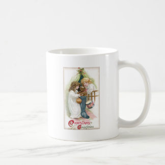 Teddy Bear Found in Stocking Vintage Christmas Coffee Mug