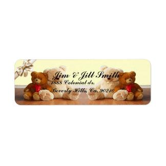 Teddy Bear Friends Label