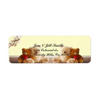 Teddy Bear Friends Set Label