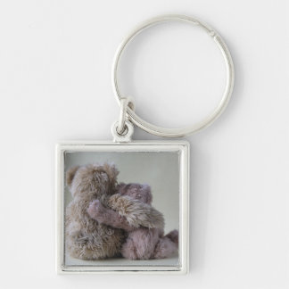 teddy bear friends square keychain