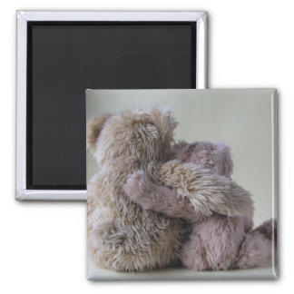 teddy bear friends square magnet