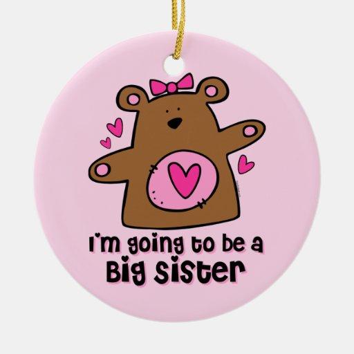 Teddy Bear Future Big Sister Ornament