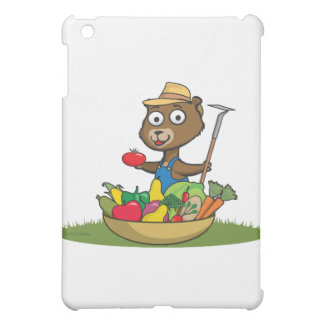 Teddy Bear Gardener iPad Mini Cases