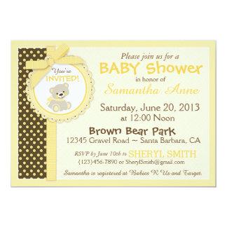 Teddy Bear Gender Neutral Baby Baby Shower Card