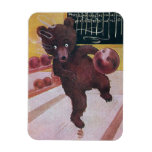 Teddy Bear Goes Bowling Rectangular Photo Magnet