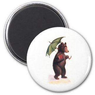 Teddy Bear Goes to Church 2 Inch Round Magnet