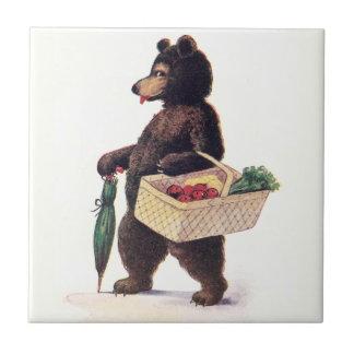 Teddy Bear Goes to Market Tile