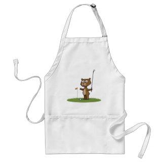 Teddy Bear Golf Adult Apron